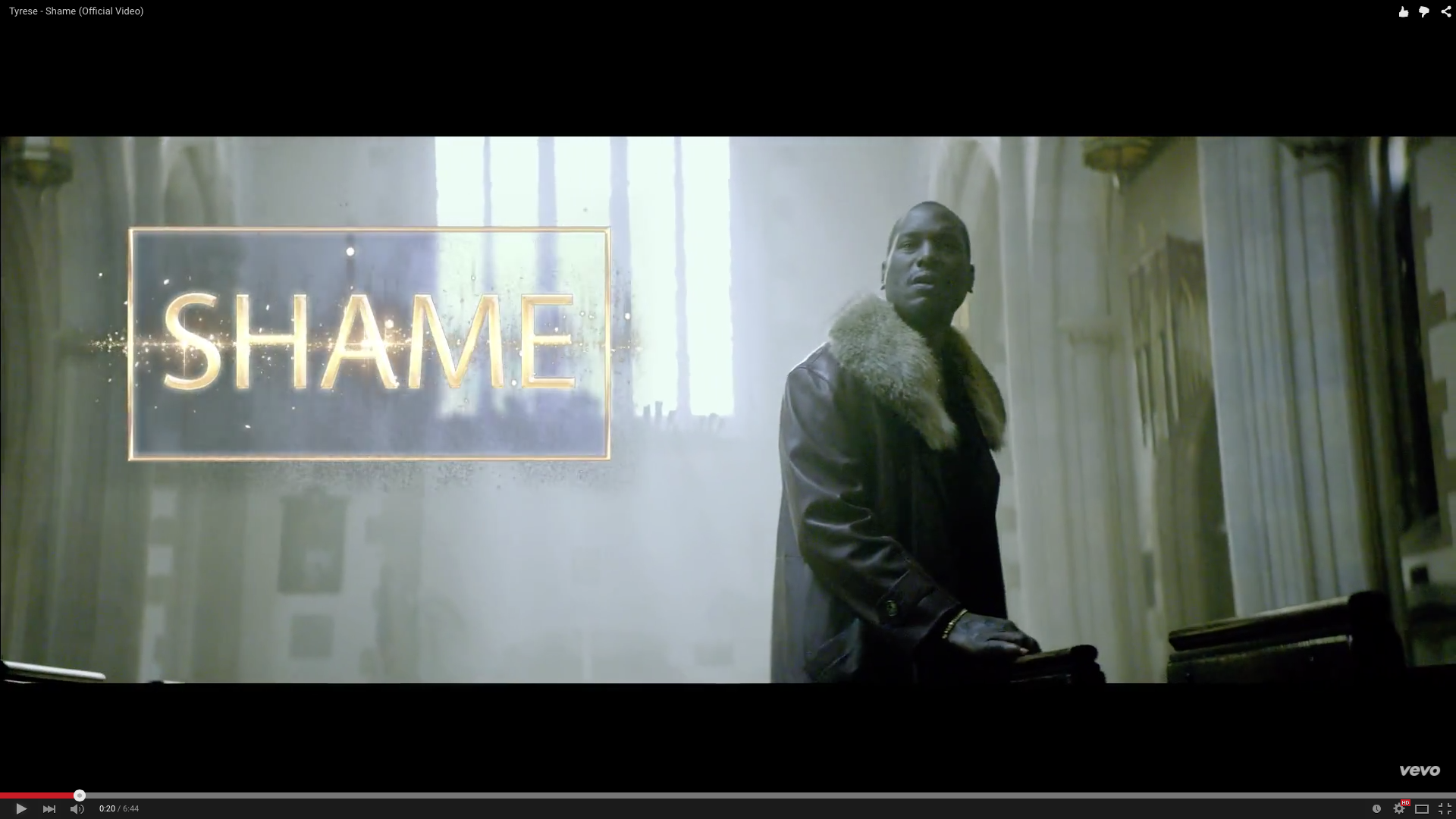 Tyrese - Shame (Official Video)- Island Stage Magazine