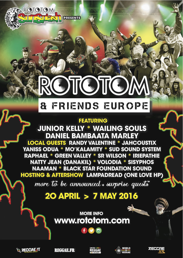 Rototom and Friends Europe Tour 2016- Island Stage Magazine